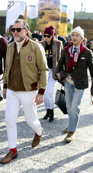 Pull à col roulé en tricot blanc Tod's