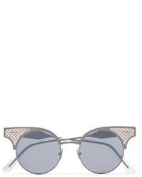 Lunettes de soleil argentées Bottega Veneta