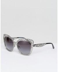Lunettes de soleil argentées Dolce & Gabbana