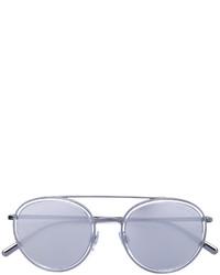 Lunettes de soleil argentées Giorgio Armani