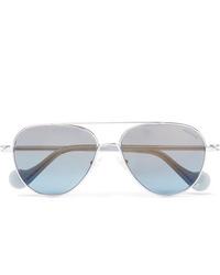 Lunettes de soleil bleu clair Moncler