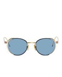 Lunettes de soleil bleu clair Thom Browne
