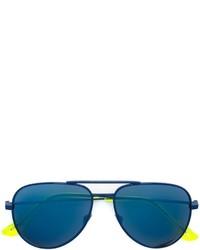 Lunettes de soleil bleues canard Saint Laurent