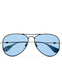 Lunettes de soleil bleues Gucci