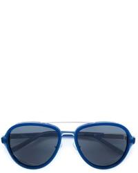 Lunettes de soleil bleues Linda Farrow