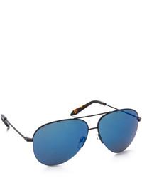 Lunettes de soleil bleues Victoria Beckham