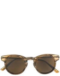Lunettes de soleil dorées Bottega Veneta