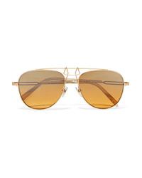 Lunettes de soleil dorées Calvin Klein 205W39nyc