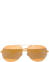 Lunettes de soleil dorées Christian Dior