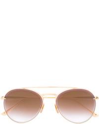 Lunettes de soleil dorées Dita Eyewear