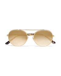 Lunettes de soleil dorées Dolce & Gabbana