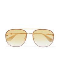 Lunettes de soleil dorées Gucci