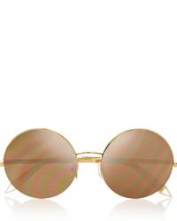 Lunettes de soleil dorées Victoria Beckham
