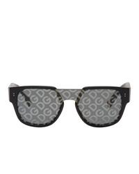 Lunettes de soleil imprimées gris foncé Dolce and Gabbana