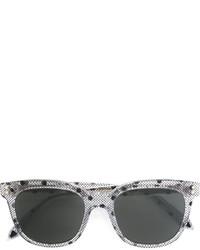 Lunettes de soleil imprimées gris foncé Victoria Beckham