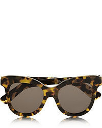 Lunettes de soleil imprimées léopard marron foncé