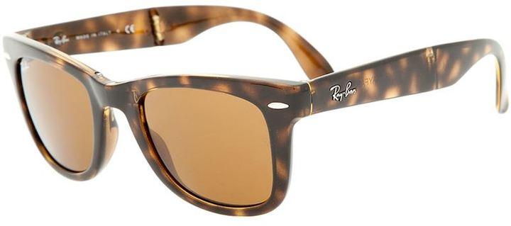 d62a5fc684ac5 ... Lunettes de soleil imprimées léopard marron foncé Ray-Ban