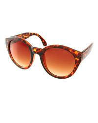 Lunettes de soleil imprimées léopard marron Asos