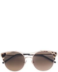 Lunettes de soleil imprimées léopard marron