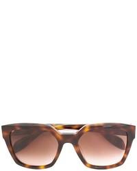 Lunettes de soleil marron Alexander McQueen
