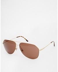 Lunettes de soleil marron Dolce & Gabbana