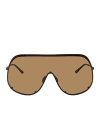 Lunettes de soleil marron Rick Owens