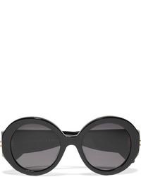Lunettes de soleil noires Alexander McQueen
