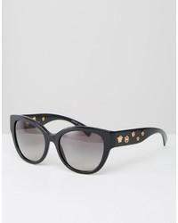 Lunettes de soleil noires Versace