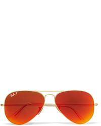 Lunettes de soleil orange Ray-Ban