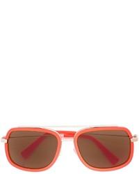 Lunettes de soleil orange Versace