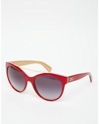Lunettes de soleil rouges Dolce & Gabbana