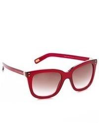 Lunettes de soleil rouges Marc Jacobs