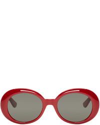 Lunettes de soleil rouges Saint Laurent