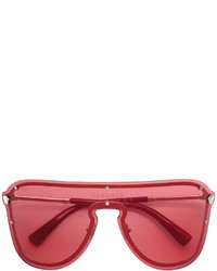 Lunettes de soleil rouges Versace