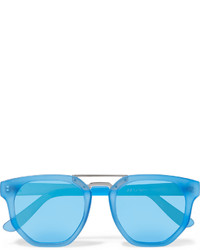 Lunettes de soleil turquoise Le Specs