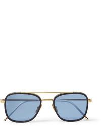 Lunettes de soleil turquoise Thom Browne