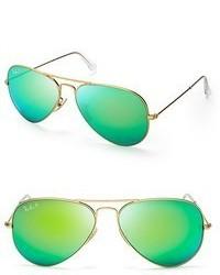 Lunettes de soleil vertes