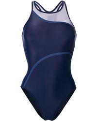 Maillot de bain une pièce bleu marine adidas by Stella McCartney