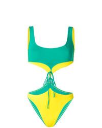 Maillot de bain une pièce découpé vert Sian Swimwear