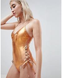 Maillot de bain une pièce doré Pieces