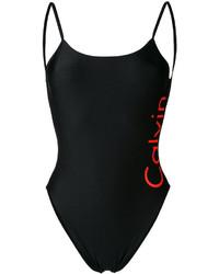 Maillot de bain une pièce imprimé noir Calvin Klein Jeans