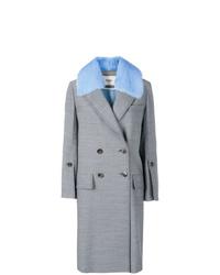 Manteau à carreaux bleu clair Fendi