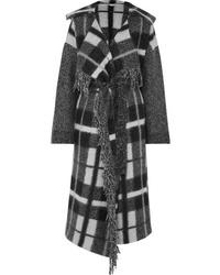 Manteau à carreaux gris foncé Stella McCartney