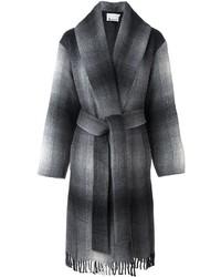 Manteau à carreaux gris Alexander Wang