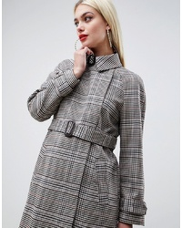 Manteau à carreaux gris ASOS DESIGN