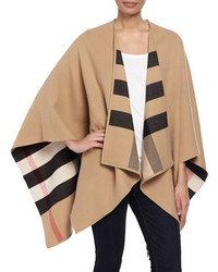 Manteau à carreaux marron clair