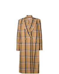 Manteau à carreaux marron clair Stella McCartney