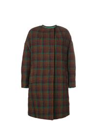 Manteau à carreaux marron foncé Isabel Marant