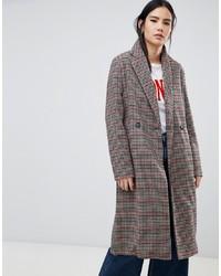 Manteau à carreaux multicolore