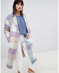Manteau à carreaux multicolore ASOS DESIGN